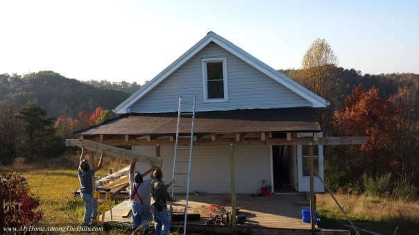 Putting the roof on my porch...finally!