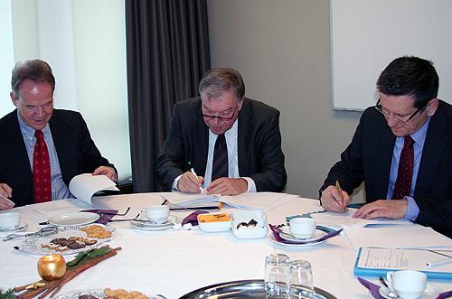Unterzeichnung Mietvertrag