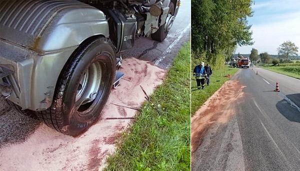 Unfall Traktor LKW