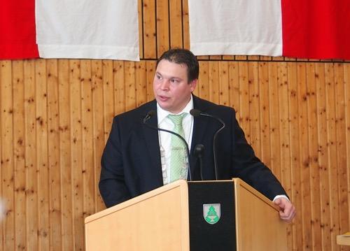 Markus Haas bei der Neujahrsansprache