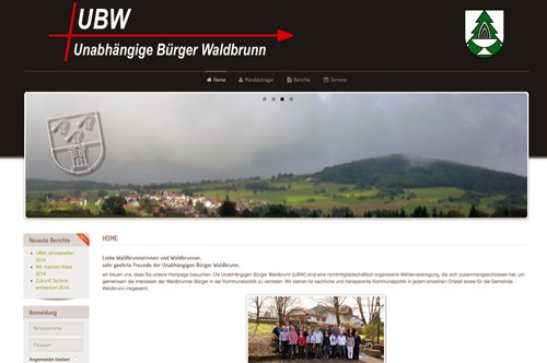 500 Screenshot UBW Homepage