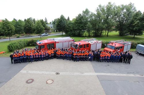 90 Jugendflammen an Floriansjünger überreicht