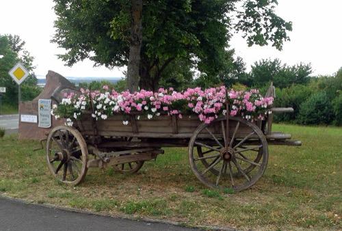 Blumenwagen Nassig