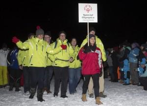 Das Team der Schwarzbach Schule der Johannes-Diakonie gehörte zur deutschen Delegation bei den Winterspielen von Special Olympics in Liechtenstein. (Foto: pm)