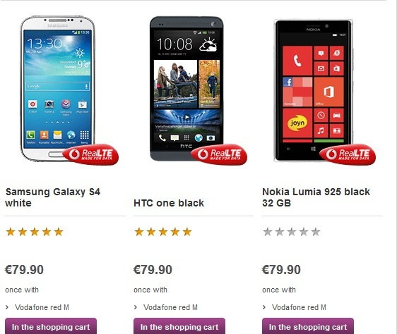 In Stock Lumia 925 Enters Best Selling List At Both Vodafone And T