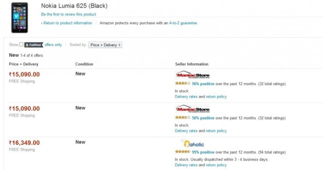 lumia 625 black amazon