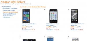 Amazon no contract bestsellers nov 2013
