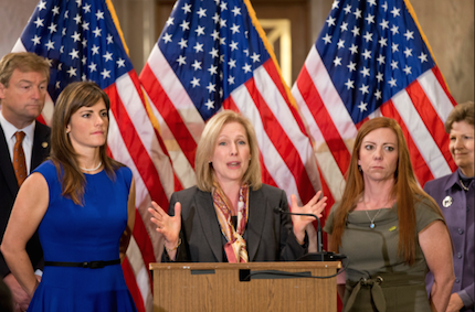 NSL145_Senator Gillibrand with victims of Sexual Assault