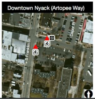 Downtown Nyack LHTL stop