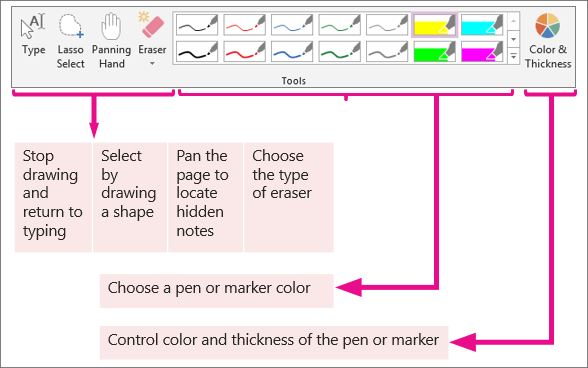 Draw in OneNote Office 365