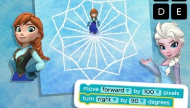 Hour of code: Code with Anna and Elsa