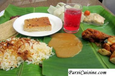 Parsi Lagan nu Patru (wedding and Navjote Parsi Cuisine)