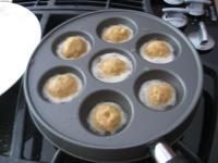 Fried Bhakhra using Ebelskiver Pan