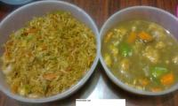 Chicken Fried Rice & Chilly and Carrot Chicken