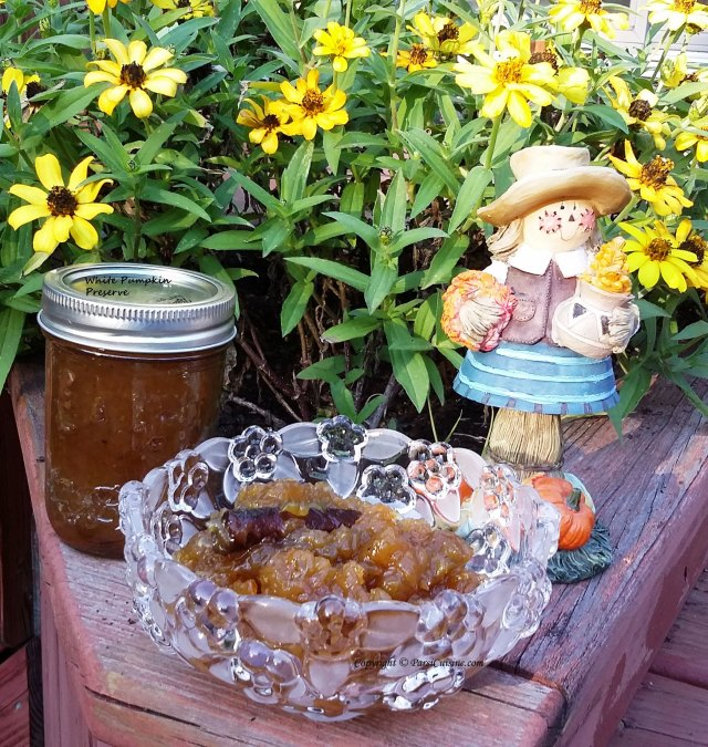 White Pumpkin Preserve for your Thanksgiving Table