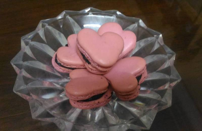 Heart shaped French Macarons