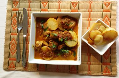 Indian Parsi Meat and Potatoes