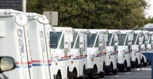 USPS-Post-Trucks-Parking-lot