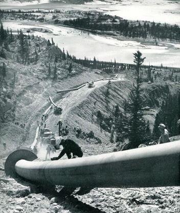 Trans Mountain Welder near-Jasper 1953