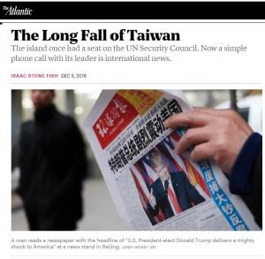 the atlantic taiwan trump call