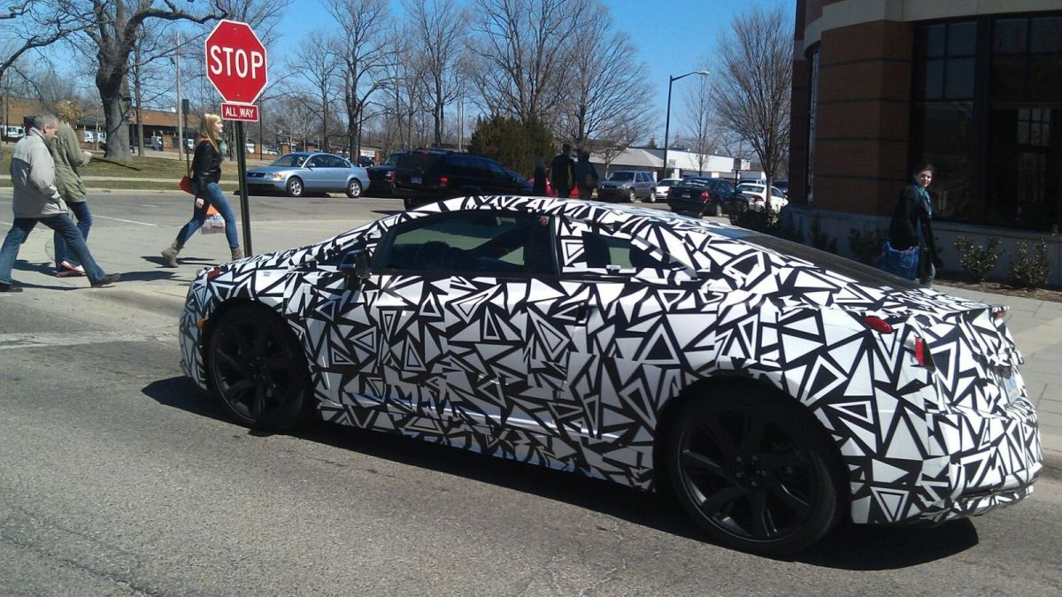 Cadillac ELR Test Mule - stop sign