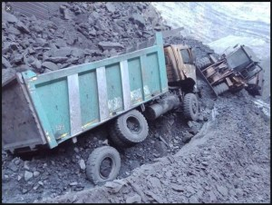 coal truck accident