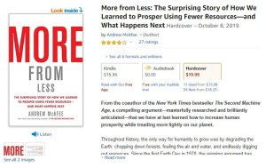 More with Less Book Andrew McAfee Amazon
