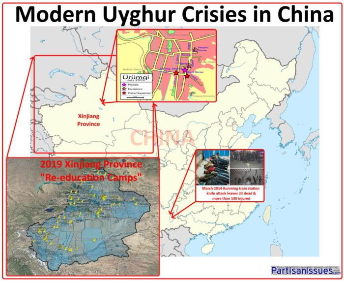 2009 to 2019 Modern Uyghur Crises In China Urumqi Kuanming Xinjiang Reeducation Camps
