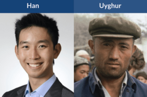 han chinese vs uyghur faces