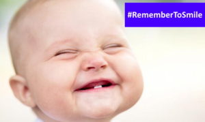 remembertosmile hashtag - baby face