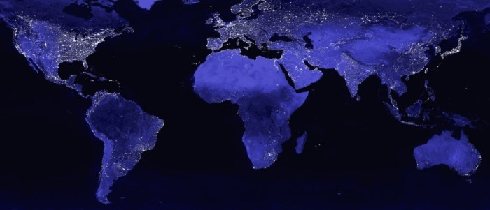 energy poverty - world at night