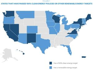 100 percent clean energy by us state