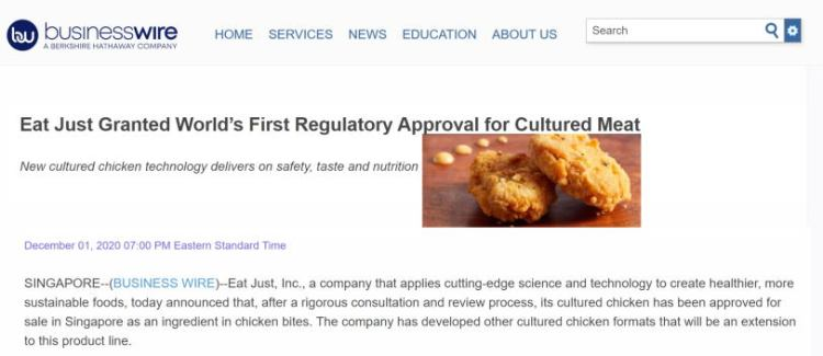 eat just singapore worlds first approval for cultured meat small