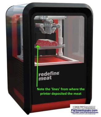 redefine meat 3d printer with lines of meat
