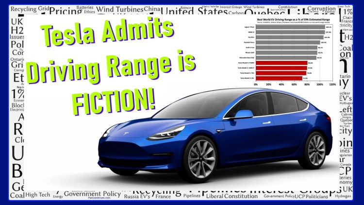Tesla driving range is fiction