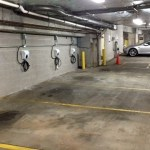 ev chargers in parking garage