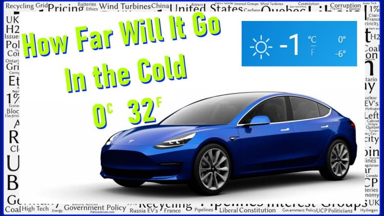 tesla model 3 sr plus how far will it go range anxiety in the cold