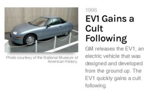 first modern electric car - 1996 gm EV1