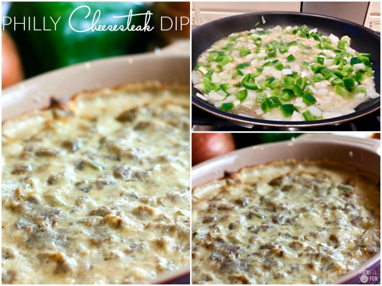 Philly Cheesesteak Dip by Food, Folks and Fun