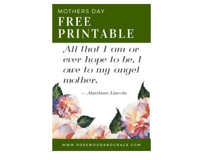 Free Mothers Day Printable   Rosewood and Grace