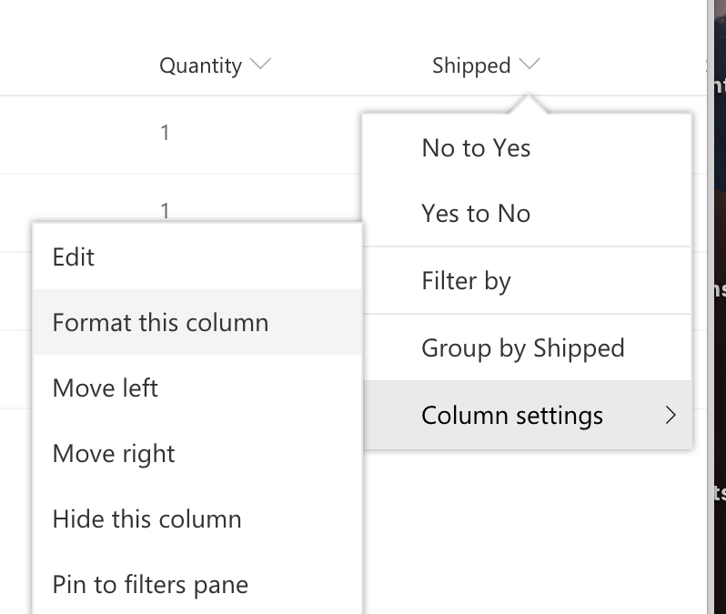 Manually Executing a Flow from SharePoint with Column