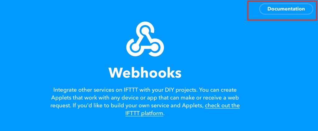 IFTTT Webhook Documentation Link