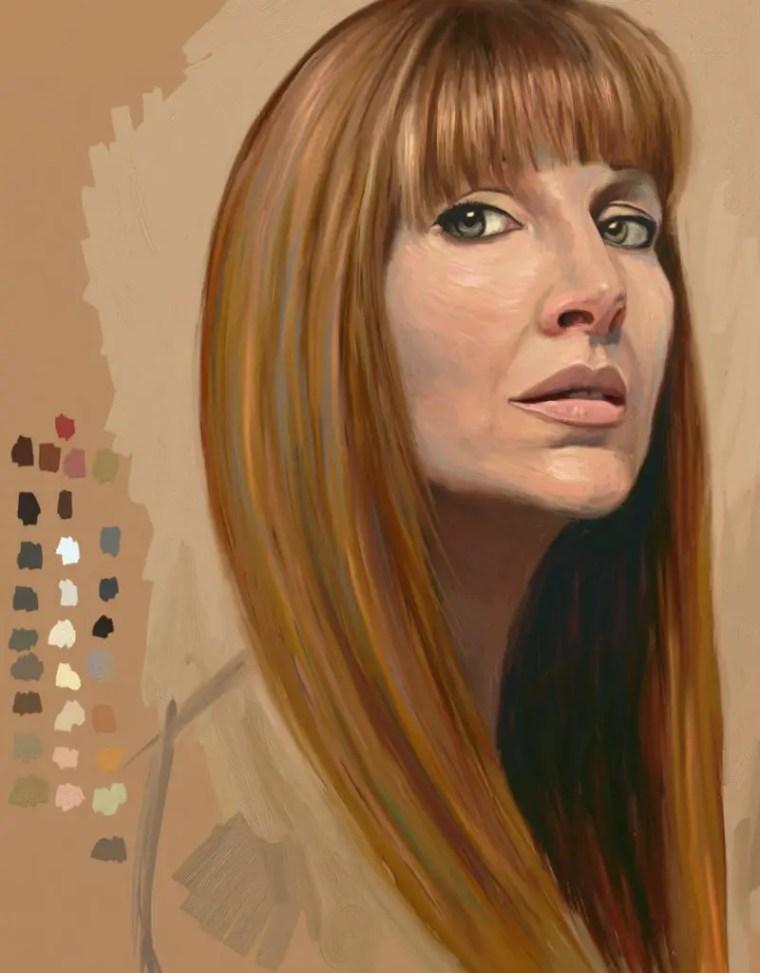 Sktchy #30faces30days challenge self-portrait day 28 Shelley Hanna