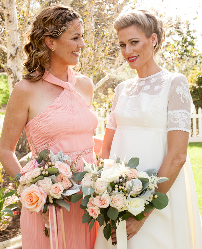 Studio Savvy Salon bride and bride's maid, best hair and make-up for weddings with braids