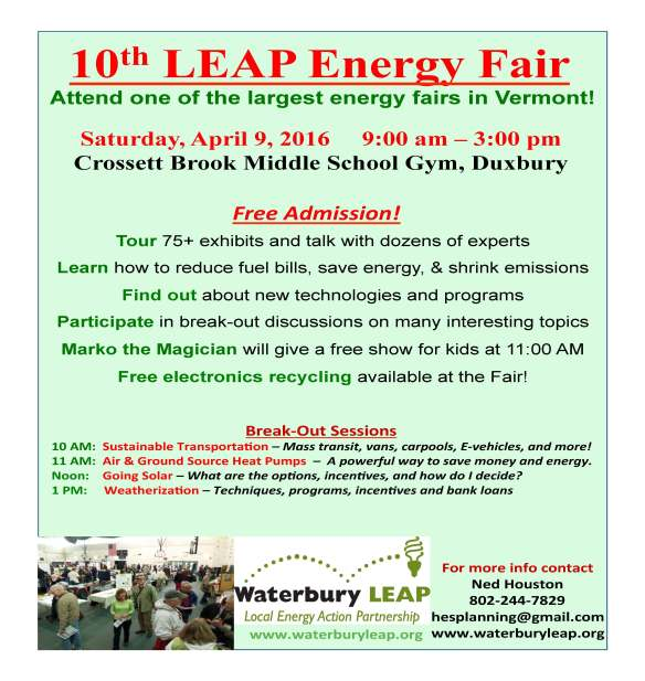 Waterbury LEAP Energy Fair