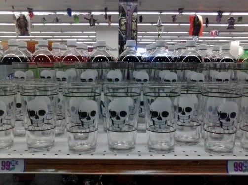 99Only Halloween skull glass display