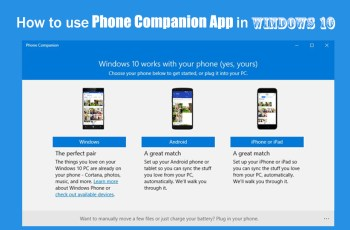 How to use Phone companion App in Windows 10