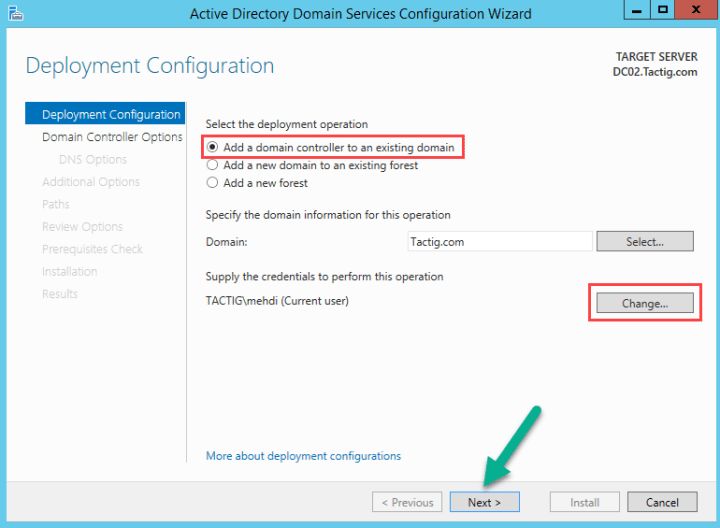Add domain controller to existing domain