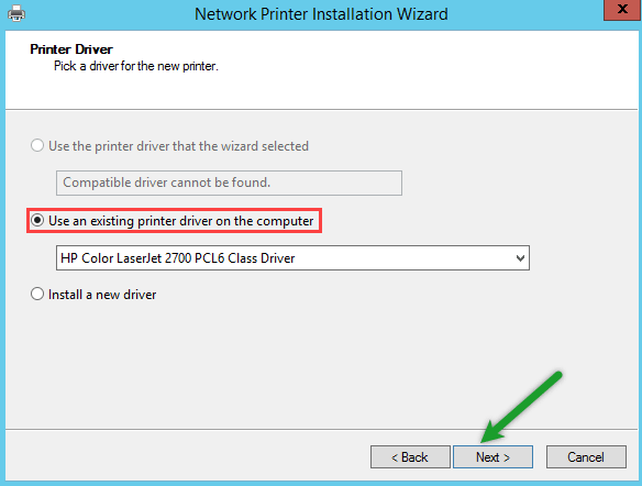 Use an existing printer driver