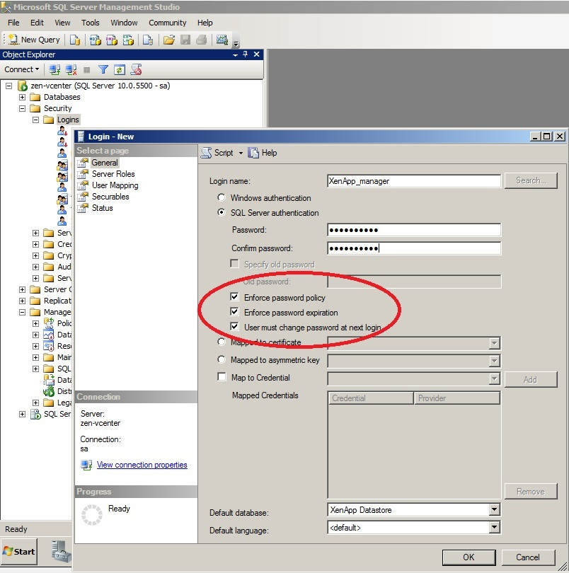 Creating a Citrix XenApp Database Service Account in SQL - Talking IT